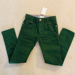 NWT Boden boys green pants size 7Y